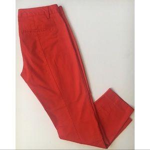 Gap Red Slim Cropped Pants